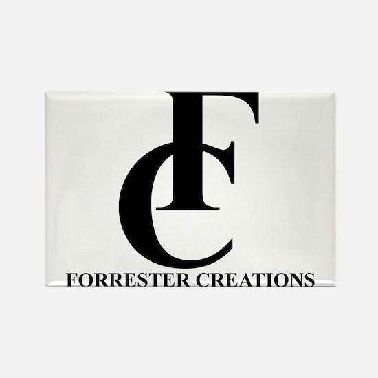 Forrester Creations Logo 01.png Rectangle Magnet