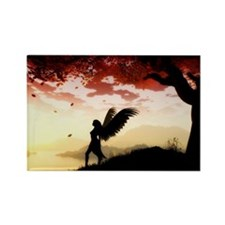 Angel at Dawn Rectangle Magnet