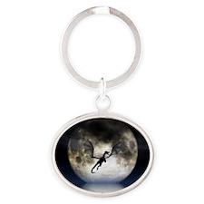 Dragon Moon Oval Keychain