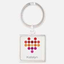 I Heart Katelyn Square Keychain