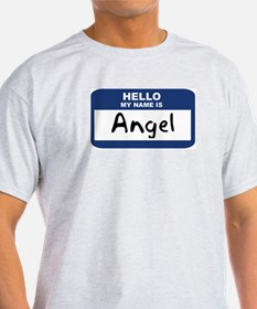 Hello: Angel Ash Grey T-Shirt