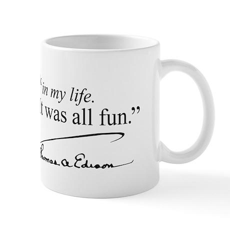 Thomas Edison Quotes Mug