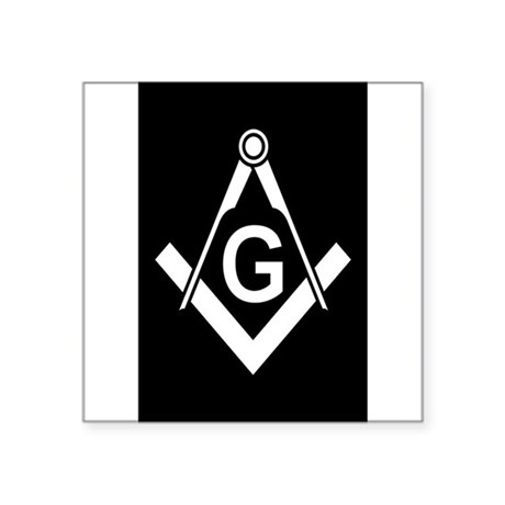 Masonic: Square & Compass Oval Sticker