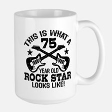 75 Year Old Rock Star Mug