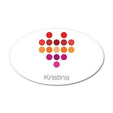 I Heart Kristina Wall Decal