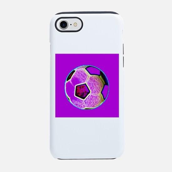 Purple Soccer Football 4Lionel iPhone 7 Tough Case