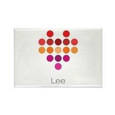 I Heart Lee Rectangle Magnet (100 pack)