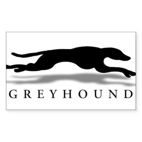 Greyhound Rectangle Sticker