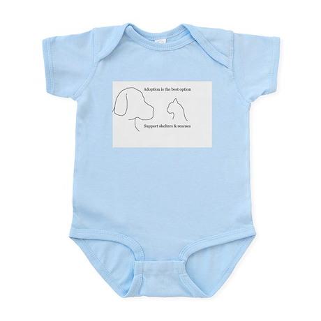 Adoption is the best option Infant Bodysuit