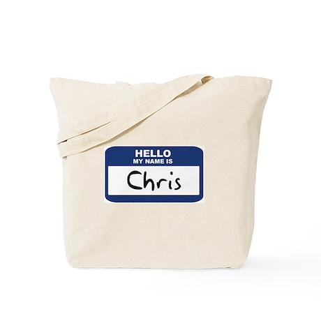 Hello: Chris Tote Bag
