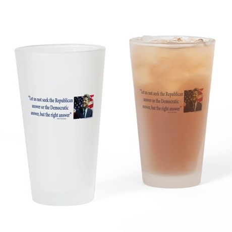 John F Kennedy Drinking Glass