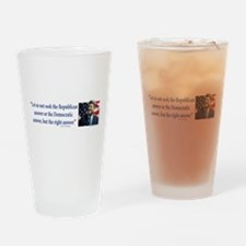 John F Kennedy Drinking Glass