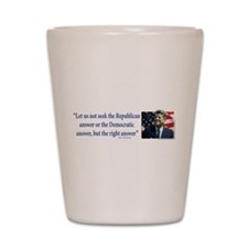 John F Kennedy Shot Glass
