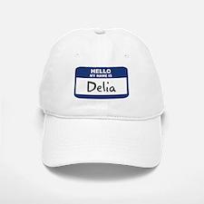 Hello: Delia Baseball Baseball Cap