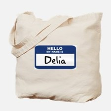 Hello: Delia Tote Bag