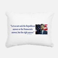 John F Kennedy Rectangular Canvas Pillow