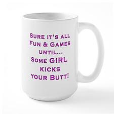 Girls Kick Butt Blk Mugs