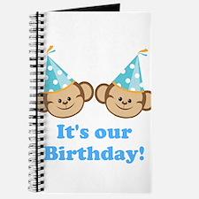 Twins Birthday Monkeys Boys Journal