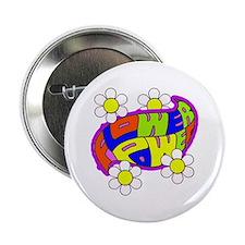 Hippie Flower Power Button