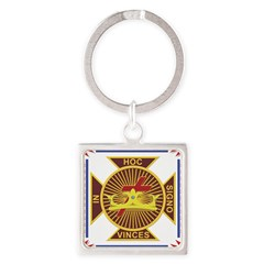 The Templars Square Keychain