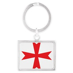 Templars maltese cross Landscape Keychain