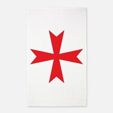 Templars maltese cross 3'x5' Area Rug