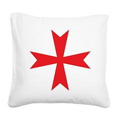 Templars maltese cross Square Canvas Pillow