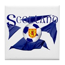 Scotland football flag Tile Coaster