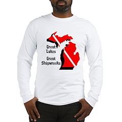Michigan Scuba Diver Long Sleeve T-Shirt