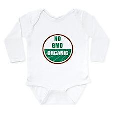 No Gmo Organic Long Sleeve Infant Bodysuit