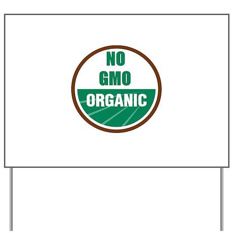 No Gmo Organic Yard Sign