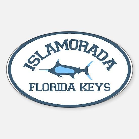 Islamorada - Fishing Design. Sticker (Oval)