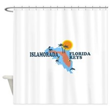 Islamorada - Map Design. Shower Curtain