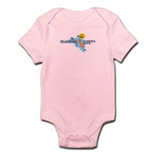 Islamorada - Map Design. Infant Bodysuit