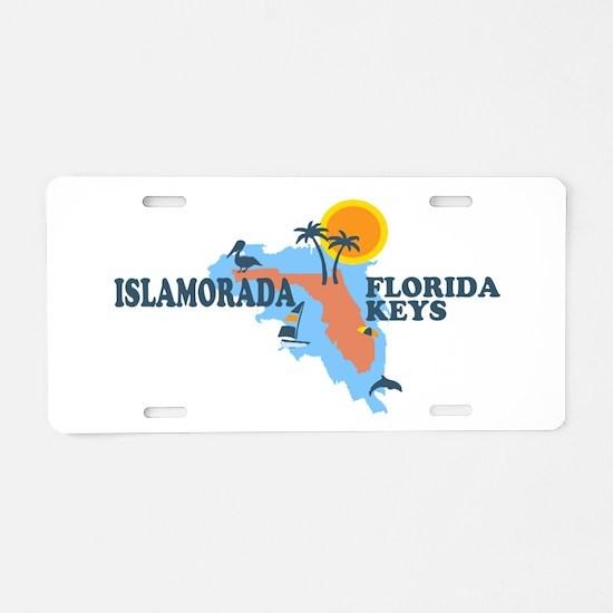 Islamorada - Map Design. Aluminum License Plate