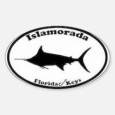 Islamorada - Oval Design. Sticker (Oval)