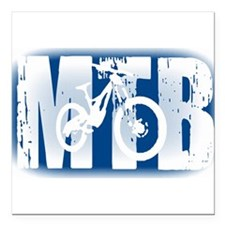 "MTB Square Car Magnet 3"" x 3"""