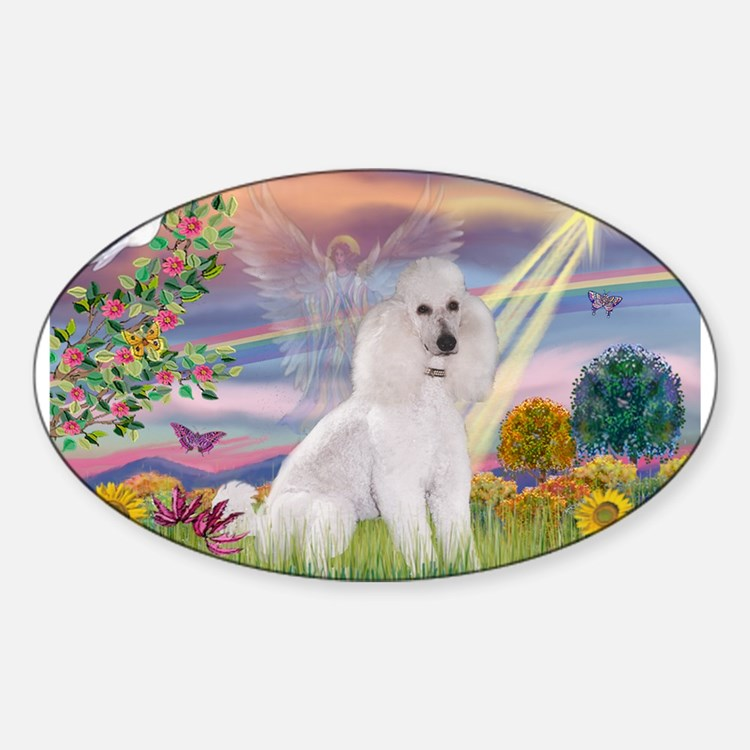 Cloud Angel White Poodle (ST) Decal
