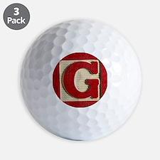 Golf Ball - Letter G