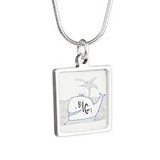 Dream Big Silver Square Necklace