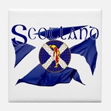 Scotland golf flag Tile Coaster