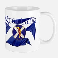 Scotland golf flag Small Mug