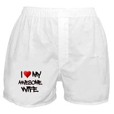 I Heart My Awesome Wife Boxer Shorts