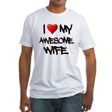 I Heart My Awesome Wife T-Shirt