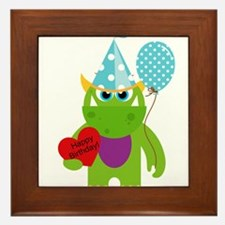 Birthday Monster Framed Tile