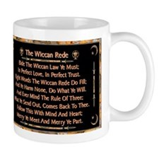 Balanced Marble Wiccan Rede Small Mug