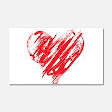 Scribbled Heart Car Magnet 20 x 12