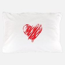Scribbled Heart Pillow Case