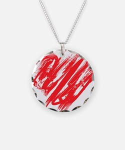Scribbled Heart Necklace