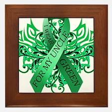 I Wear Green for my Uncle Framed Tile